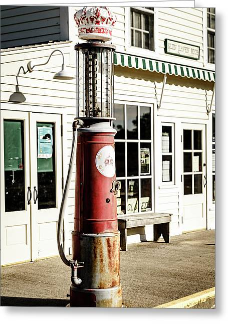 Greeting Card featuring the photograph Old Fuel Pump by Alexey Stiop