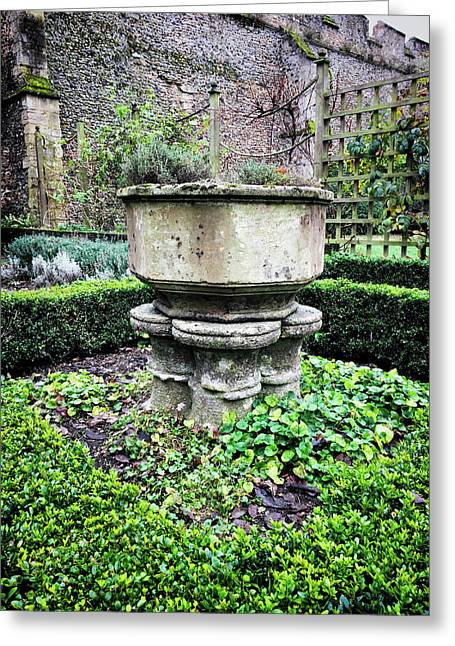 Old Garden Stone Trough Greeting Card