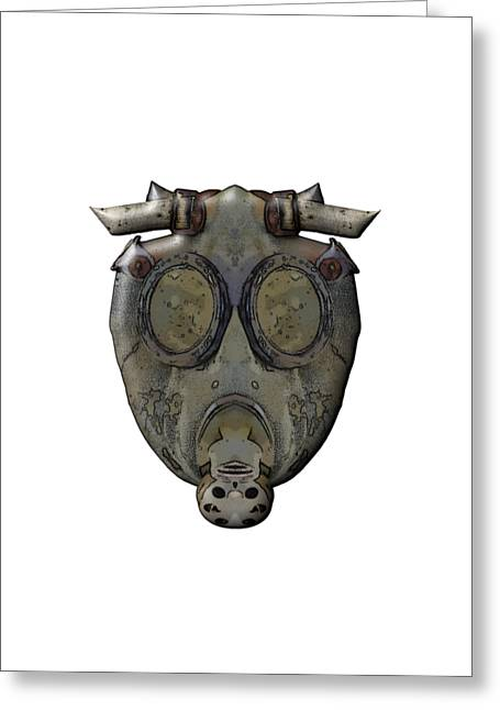 Old Gas Mask Greeting Card