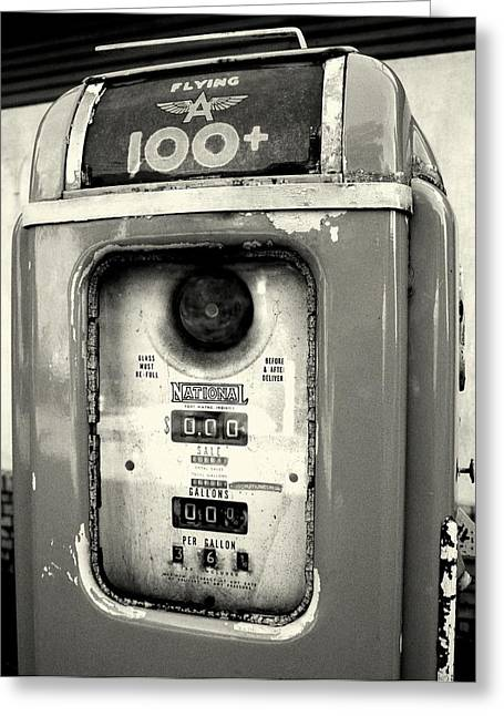 Old Gas Pump Greeting Card by DazzleMePhotography