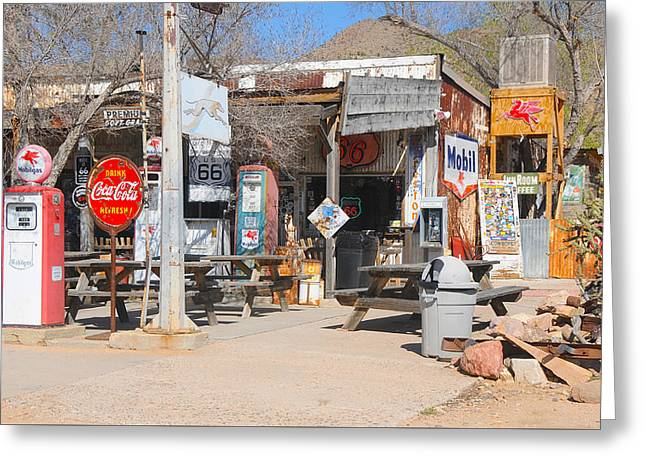 Old Gas Station, Historic Route 66 Greeting Card