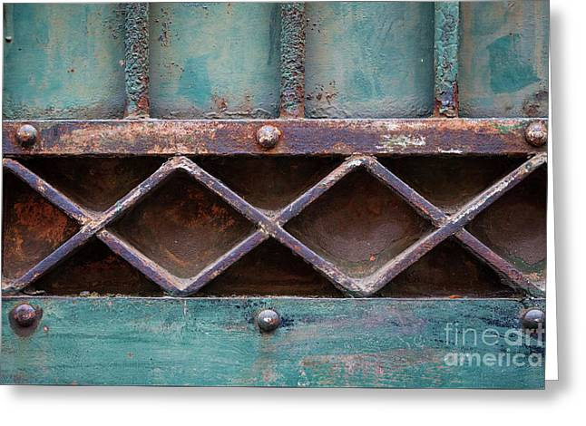 Old Gate Geometric Detail Greeting Card