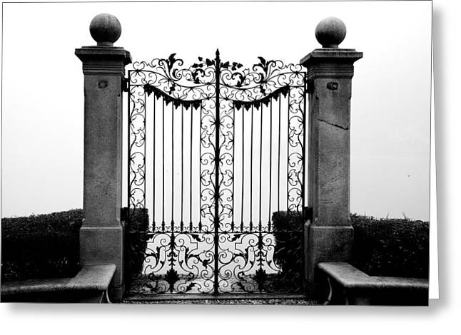 Old Gate Greeting Card