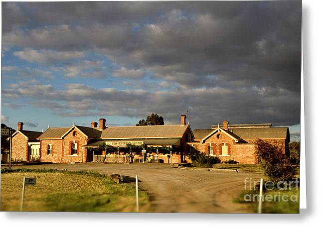 Greeting Card featuring the photograph Old Ghan Railway Restaurant by Douglas Barnard