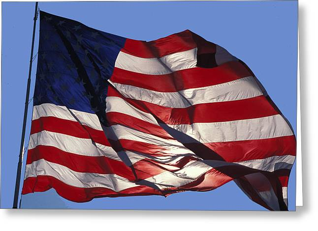Old Glory Greeting Card by Carl Purcell