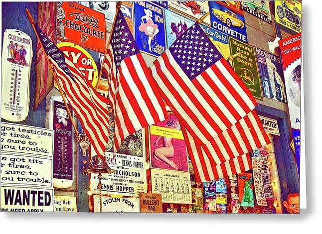 Old Glory Greeting Card by Joan Reese