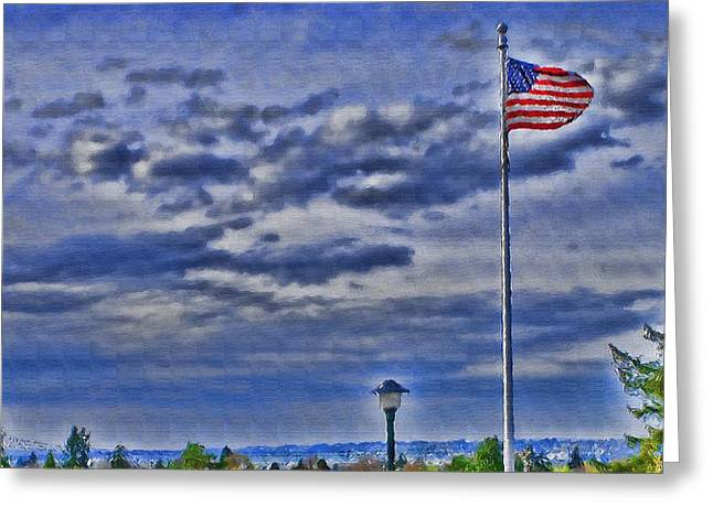 Old Glory Greeting Card by John Winner
