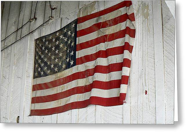 Old Glory Greeting Card by Laurel Powell