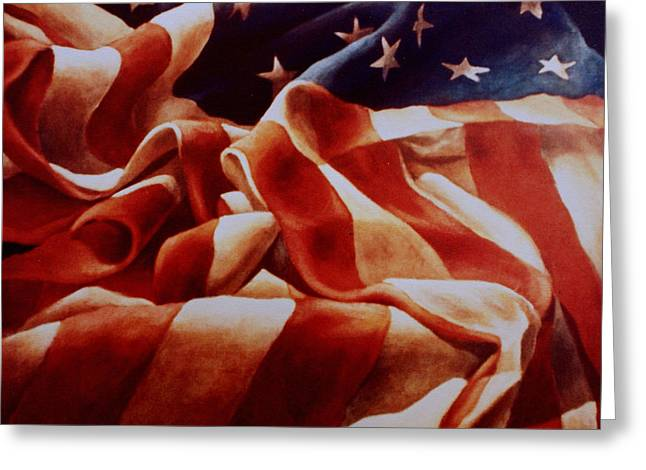 Old Glory Greeting Card by Michael Lang