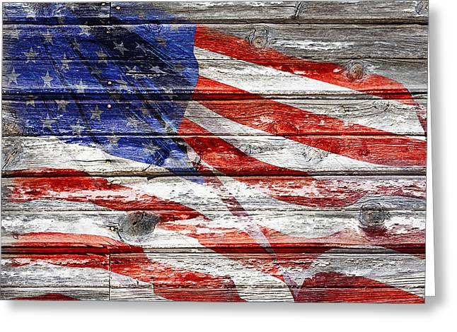 Old Glory Greeting Card by Phyllis Denton