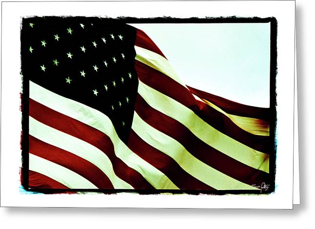 Old Glory Greeting Card by Scott Pellegrin