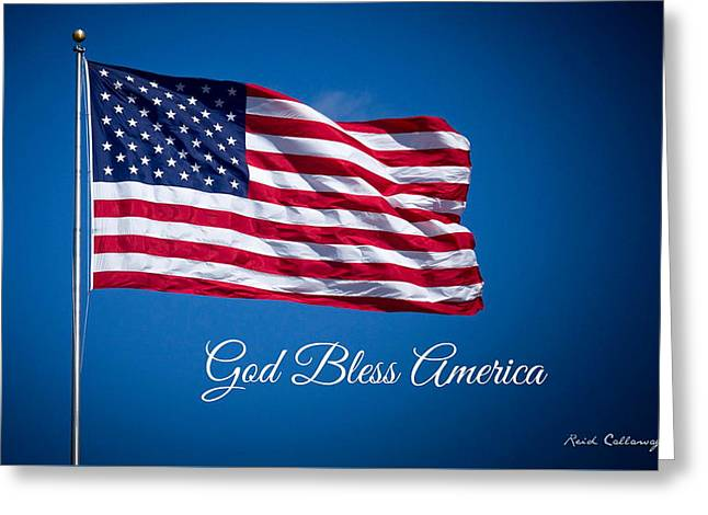 Old Glory The American Flag Art Greeting Card
