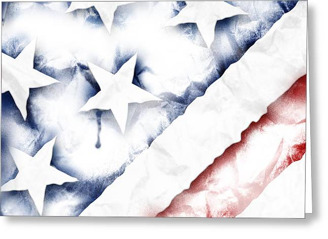 Old Glory Greeting Card by Vanessa Bates