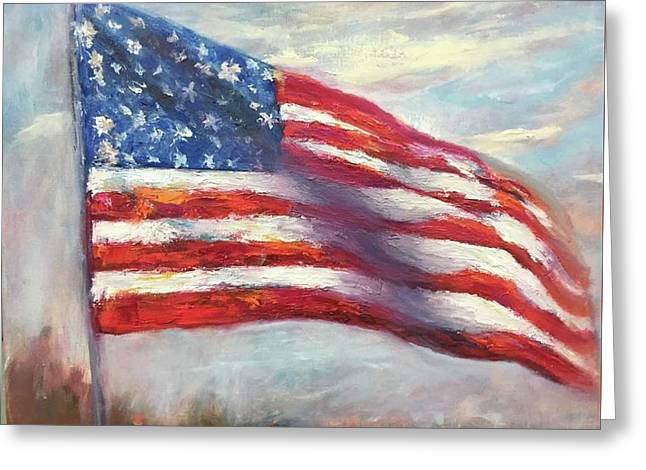 Old Glory Vi Greeting Card