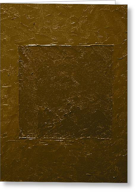 Old Gold Bronze Greeting Card