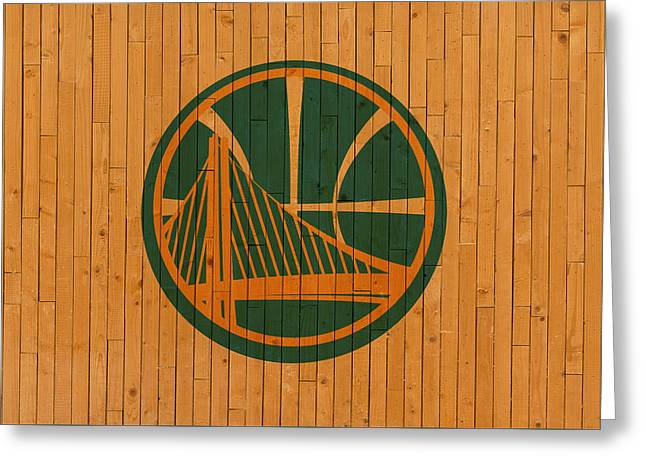Old Golden State Warriors Basketball Gym Floor Greeting Card by Design Turnpike