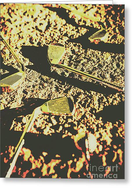 Old Golfing Games Greeting Card