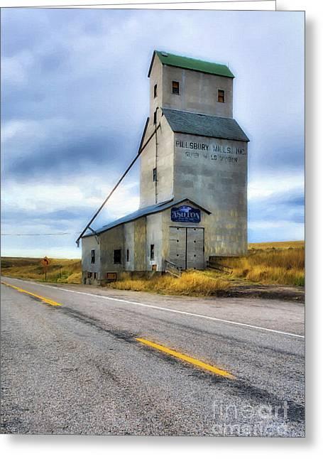 Old Grain Elevator In Idaho Greeting Card by Mel Steinhauer
