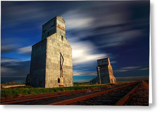 Old Grain Elevators Greeting Card by Todd Klassy