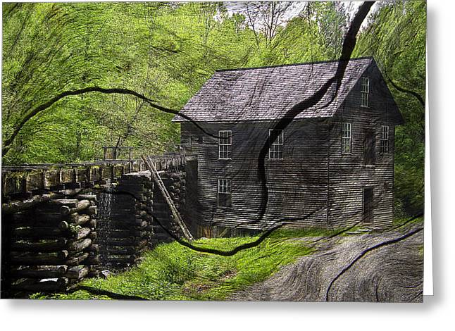 Old Grain Mill Greeting Card by Michael Whitaker