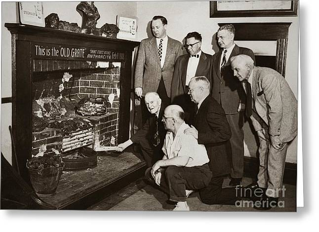 Old Grate That First Burned Anthracite Coal Successfully In The Old Fell House Wilkes Barre Pa Greeting Card