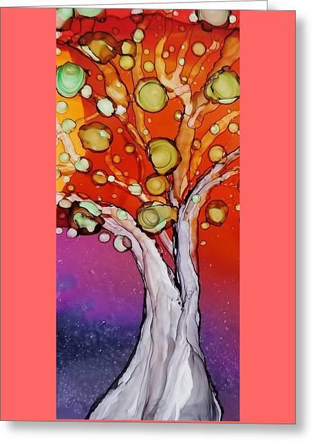 Old Gray Tree Greeting Card