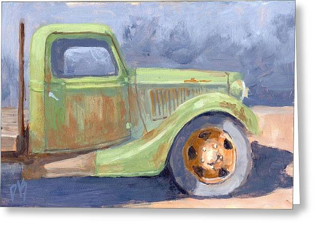 Old Green Ford Greeting Card