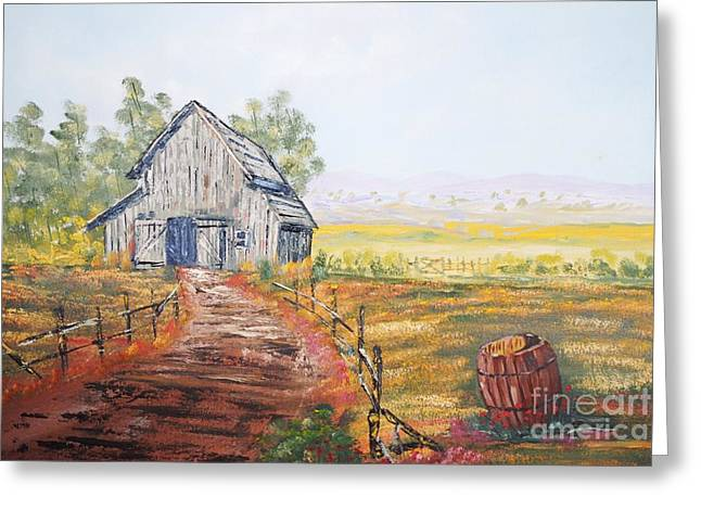 Old Grey Barn Greeting Card by James Higgins
