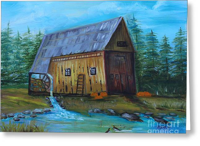 Old Griss Mill Greeting Card
