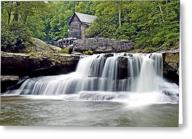 Old Grist Mill In Babcock State Park West Virginia Greeting Card by Brendan Reals