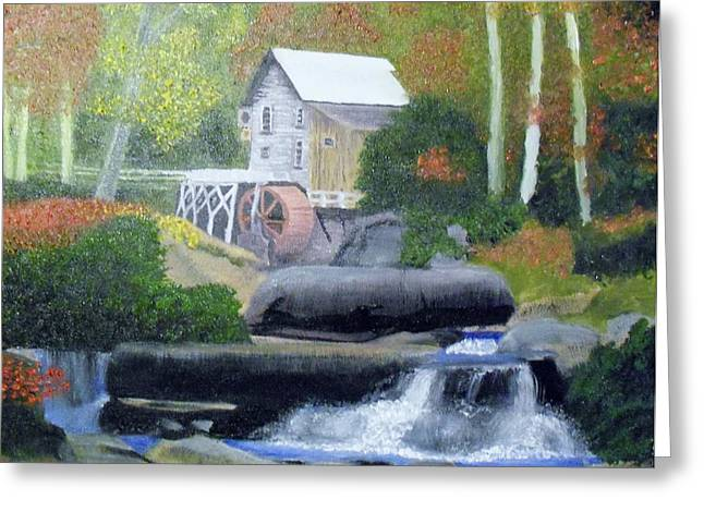Old Grist Mill Greeting Card by John Smith