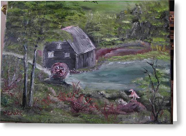Old Grist Mill Greeting Card by M Bhatt