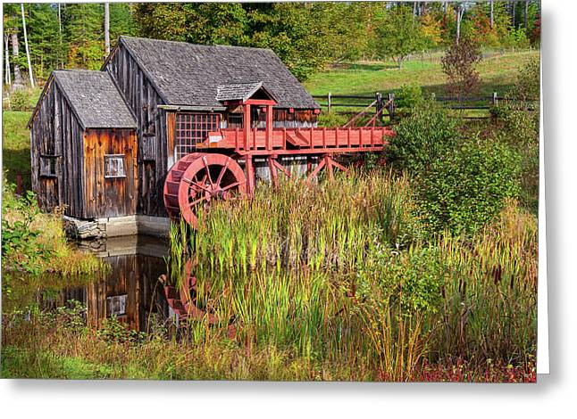 Old Grist Mill Square Greeting Card