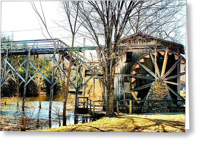 Greeting Card featuring the photograph Old Gristmill by Rick Friedle