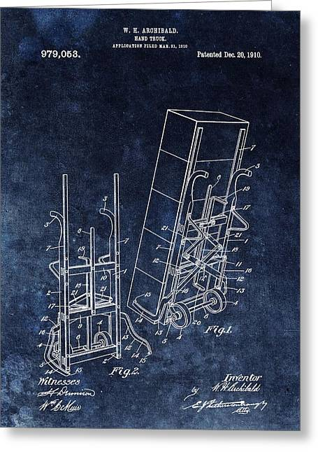 Old Hand Truck Patent Greeting Card by Dan Sproul