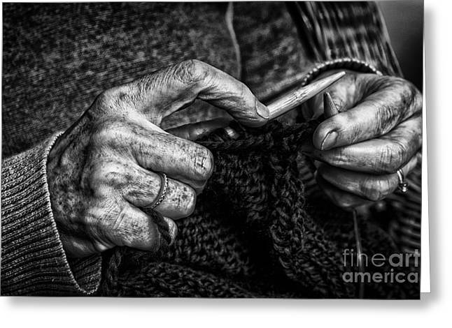 Old Hands Greeting Card