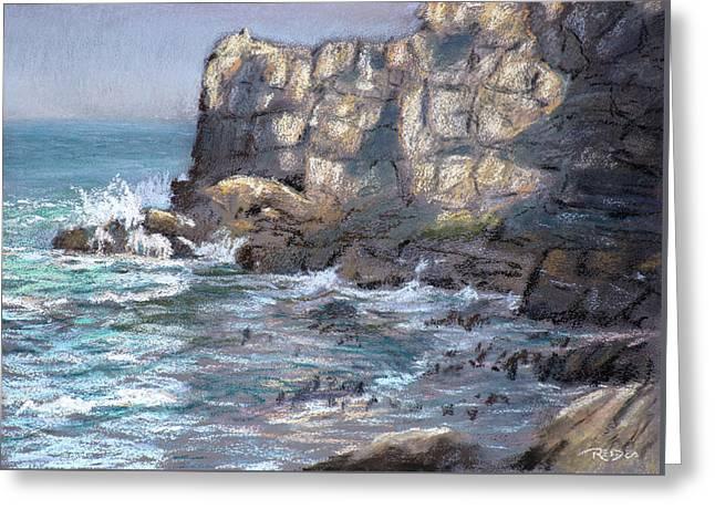 Old Harbor Cliffs Greeting Card