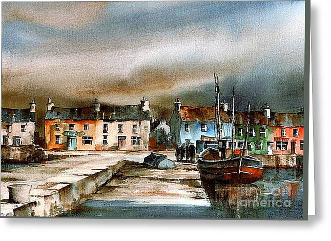 Old Harbour Dingle, Kerry Greeting Card