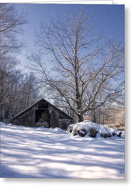 Old Hay Barn Boxley Valley Greeting Card