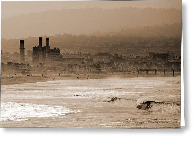 Old Hermosa Beach Greeting Card