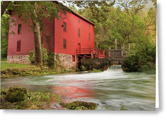 Old Historic Alley Spring Mill In Eminence Missouri Greeting Card by Gregory Ballos