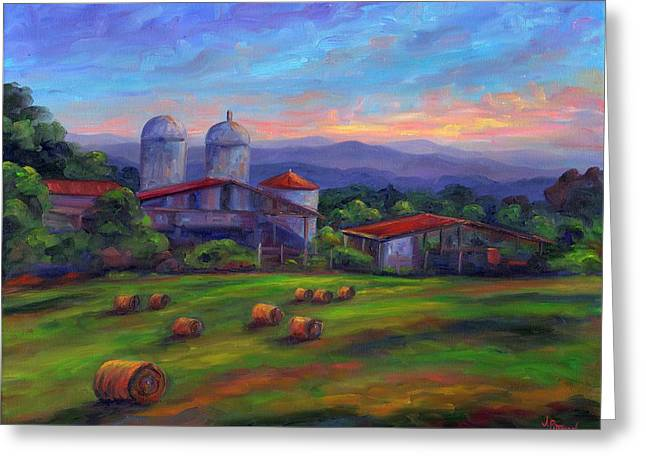 Old Hollabrook Farm At Dusk Greeting Card by Jeff Pittman