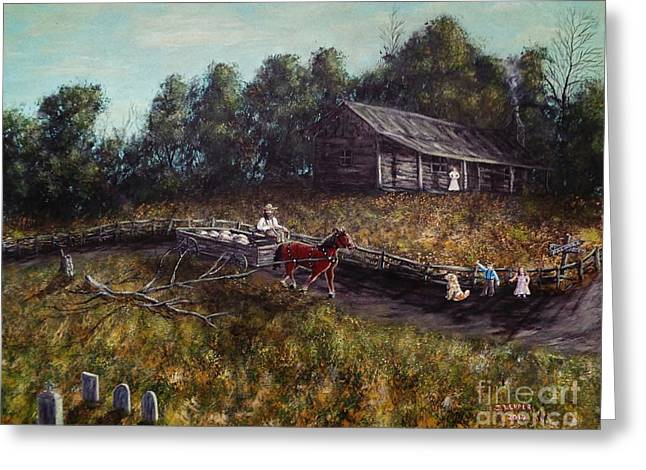 Old Home, New Family Greeting Card by Jack Lepper