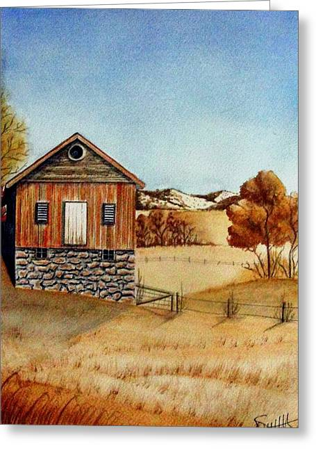 Old Homestead Greeting Card by Jimmy Smith