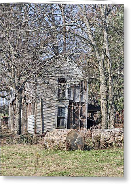 Old Homestead Greeting Card by Linda A Waterhouse