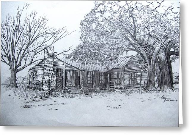Old Homestead Greeting Card by Otis  Cobb