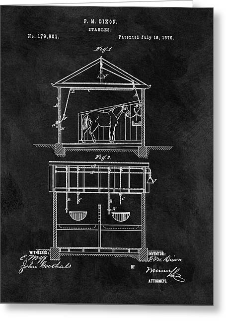 Old Horse Stable Patent Greeting Card by Dan Sproul