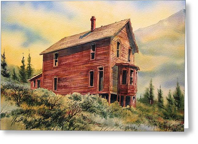 Old House Animas Forks Colorado Greeting Card by Kevin Heaney