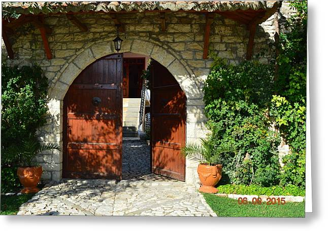 Old House Door Greeting Card by Nuri Osmani