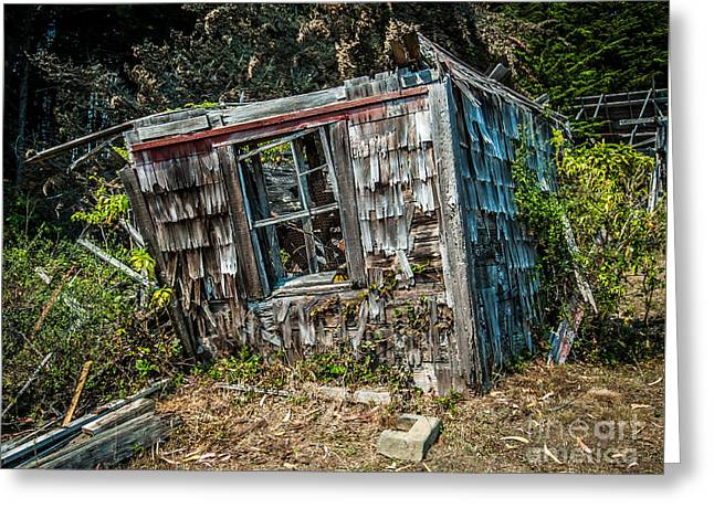 Old House Fort Ross Sonoma County California Greeting Card